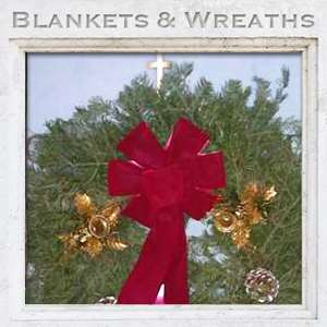 grave blankets and wreaths