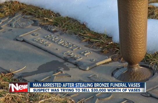 $30,000 Worth of Bronze Vases Stolen from Gravesite