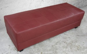 Leather Bench, burgandy, 6 ft.