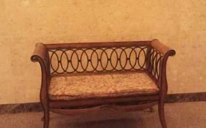 Wooden Bench, with Wrought Iron, 5 ft.