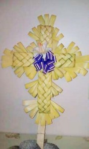 Cross, Pale Braided Purple Bow 1 Lily x24