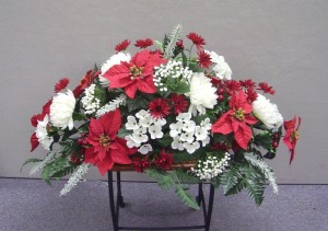 Floral Placements for Graves, Over-Headstone, Special, Winter