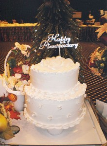 Specialty Floral Placement, Anniversary Cake