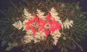 Grave Blanket, Fern Poinsettia x6ft