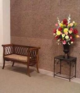 Mausoleum Decor, Bench & Table, Flowers