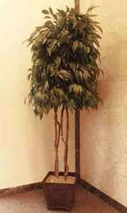 Mausoleum Decor Tree, Pedestal Flowers 7 ft.