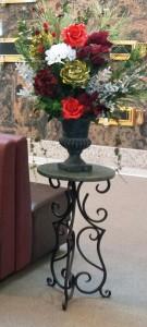 Mausoleum Decor, Table, Winter Flowers