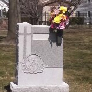 Floral Placements for Graves, Monument Vase, Spring