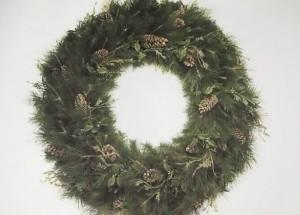 Wreath, Balsam, Pine Cones 4ft