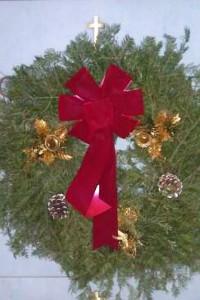 Wreath, Velvet Bow, Decorated 24inch